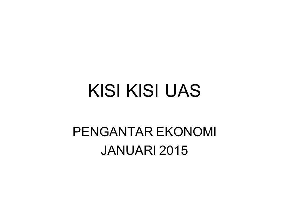 PENGANTAR EKONOMI JANUARI 2015