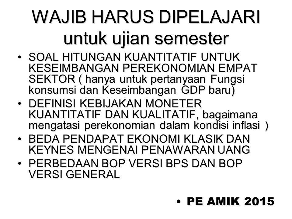 WAJIB HARUS DIPELAJARI untuk ujian semester
