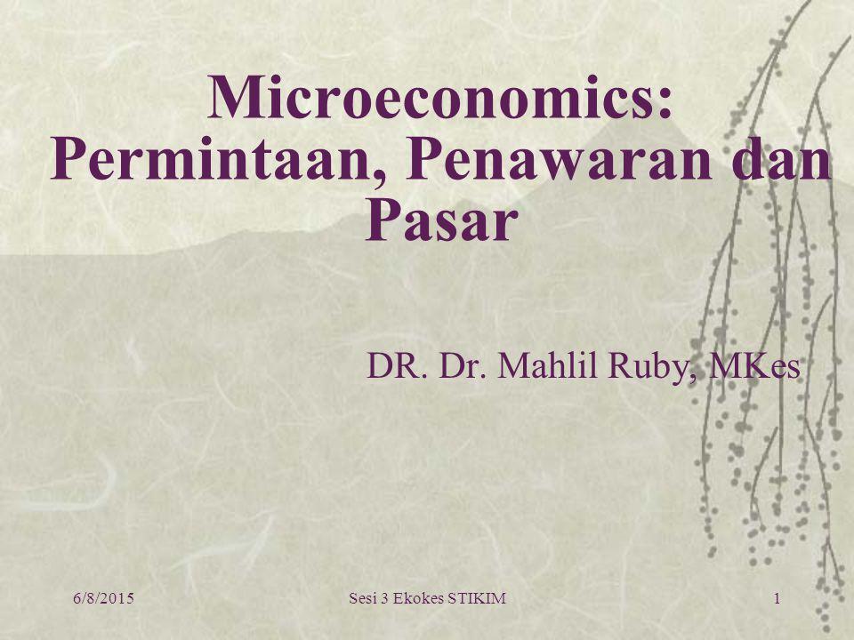 Microeconomics: Permintaan, Penawaran dan Pasar