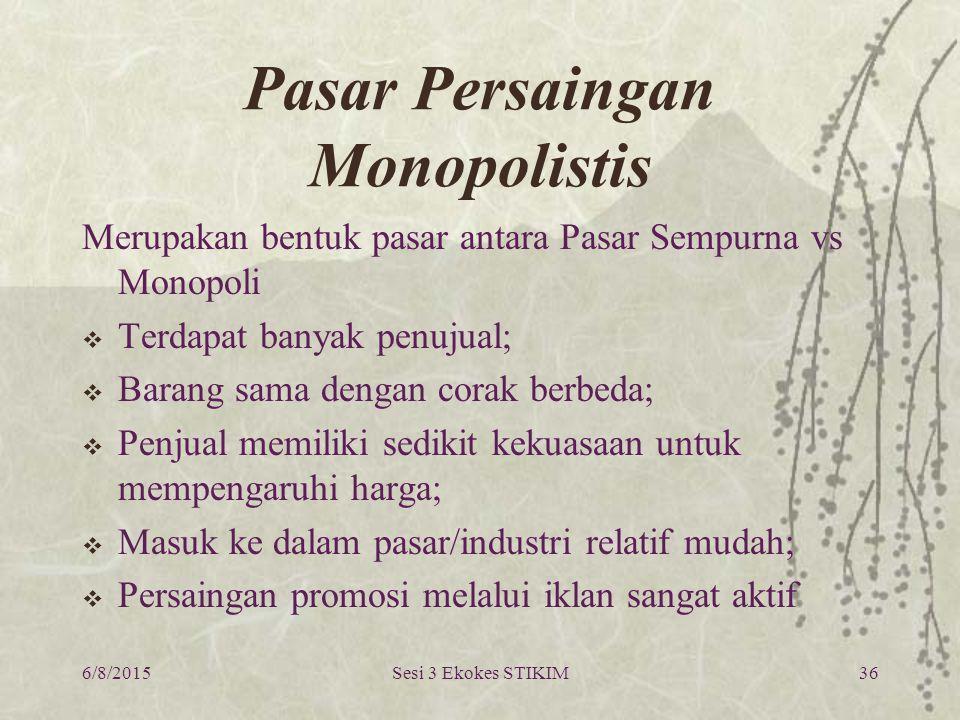 Pasar Persaingan Monopolistis