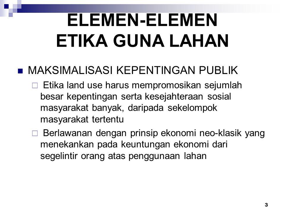 ELEMEN-ELEMEN ETIKA GUNA LAHAN