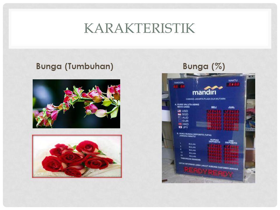 Karakteristik Bunga (Tumbuhan) Bunga (%)