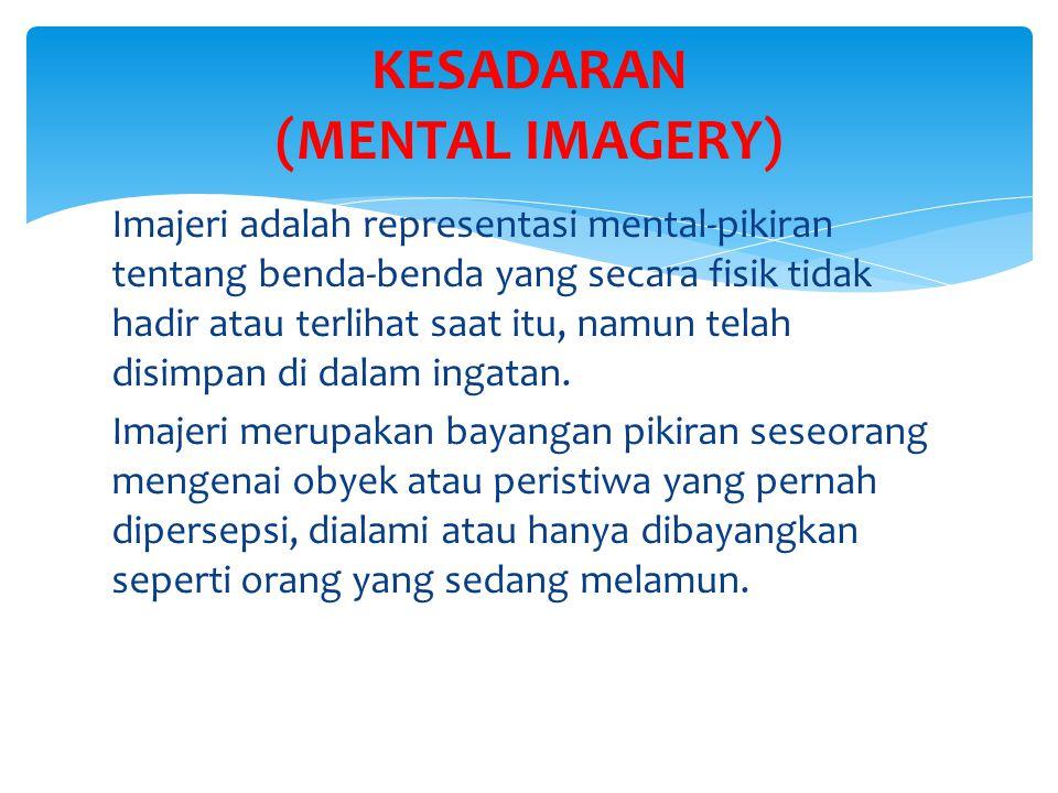 KESADARAN (MENTAL IMAGERY)