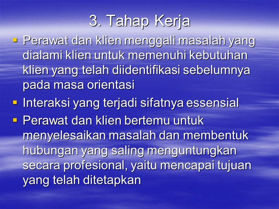 3. Tahap Kerja