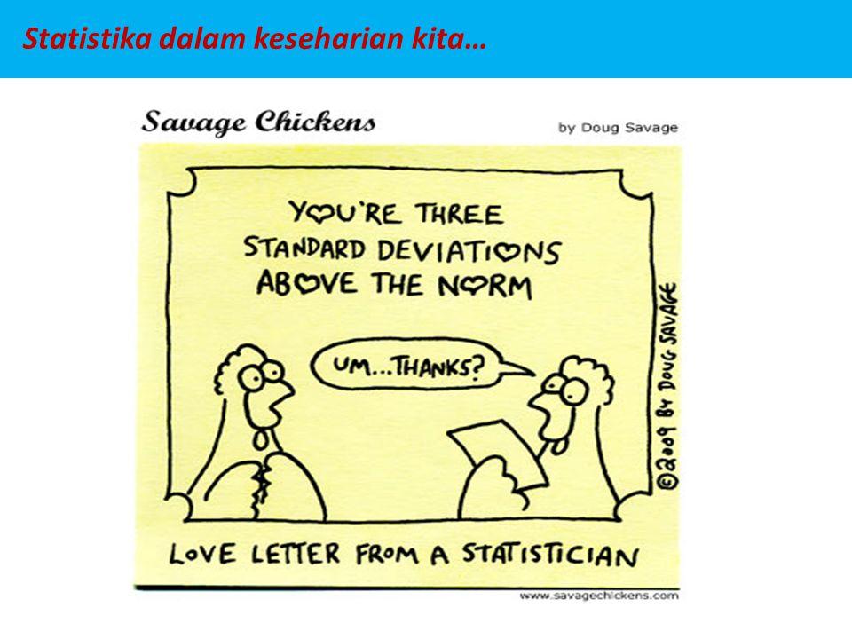 Statistika dalam keseharian kita…