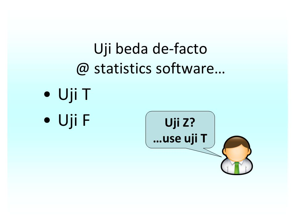Uji beda de-facto @ statistics software…