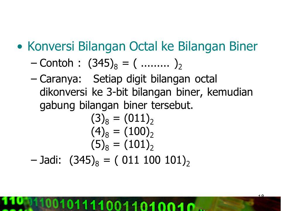 Konversi Bilangan Octal ke Bilangan Biner