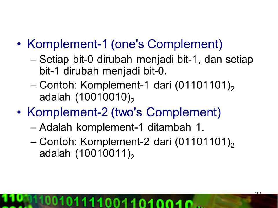 Komplement-1 (one s Complement)