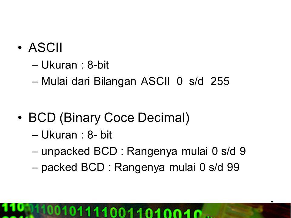 BCD (Binary Coce Decimal)