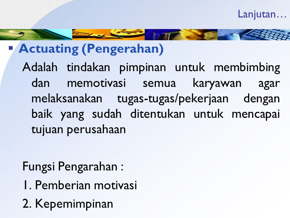 Actuating (Pengerahan)