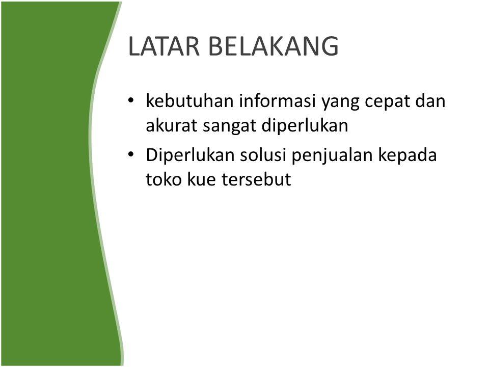 LATAR BELAKANG kebutuhan informasi yang cepat dan akurat sangat diperlukan.