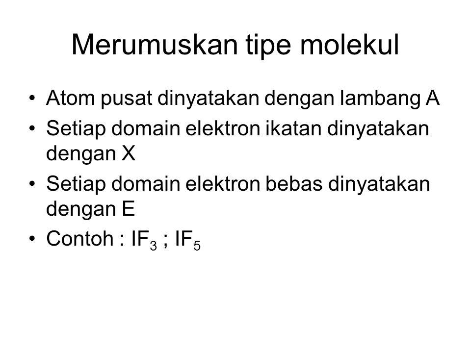 Merumuskan tipe molekul