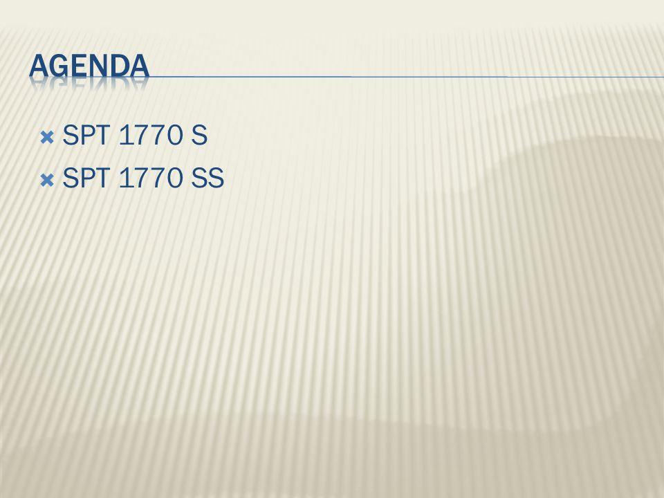 Agenda SPT 1770 S SPT 1770 SS