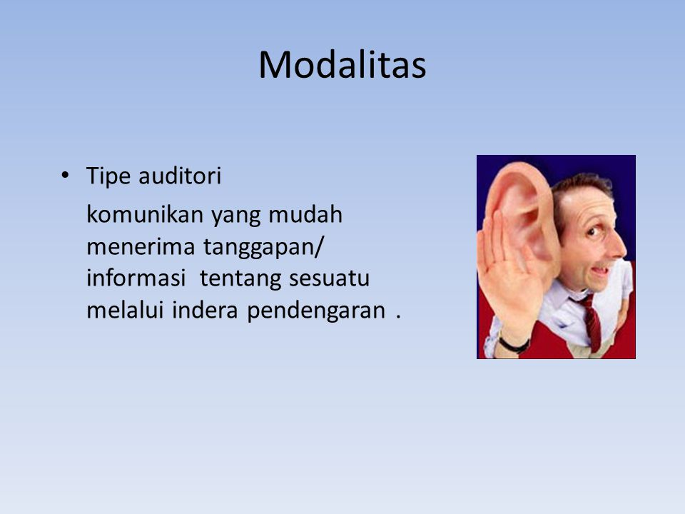 Modalitas Tipe auditori