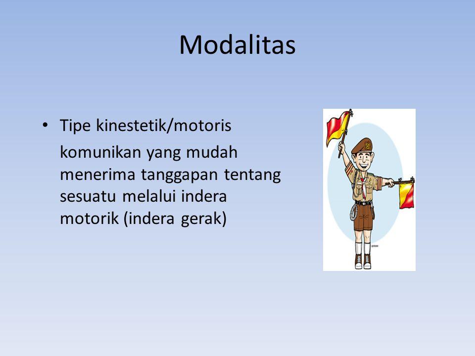 Modalitas Tipe kinestetik/motoris