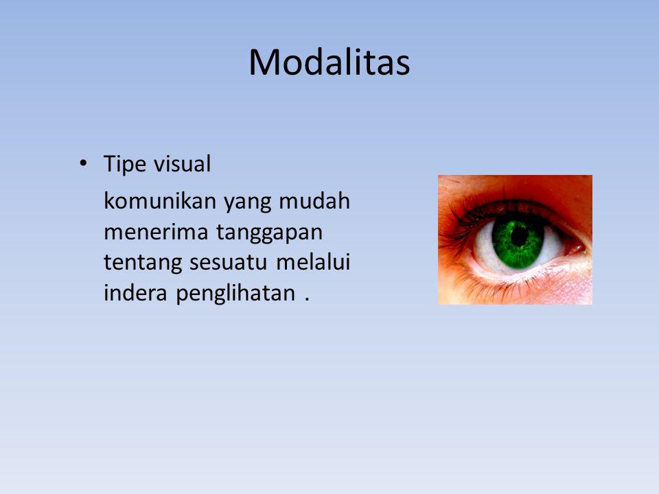 Modalitas Tipe visual.