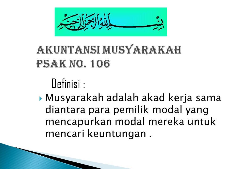 AKUNTANSI MUSYARAKAH PSAK NO. 106