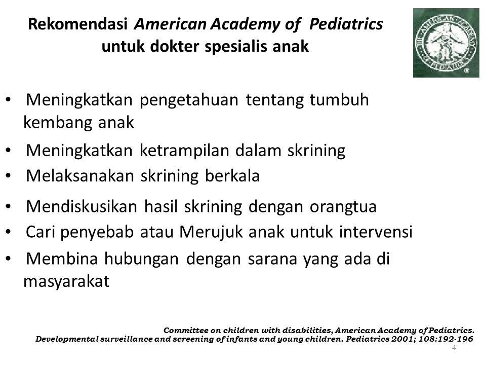 Rekomendasi American Academy of Pediatrics untuk dokter spesialis anak