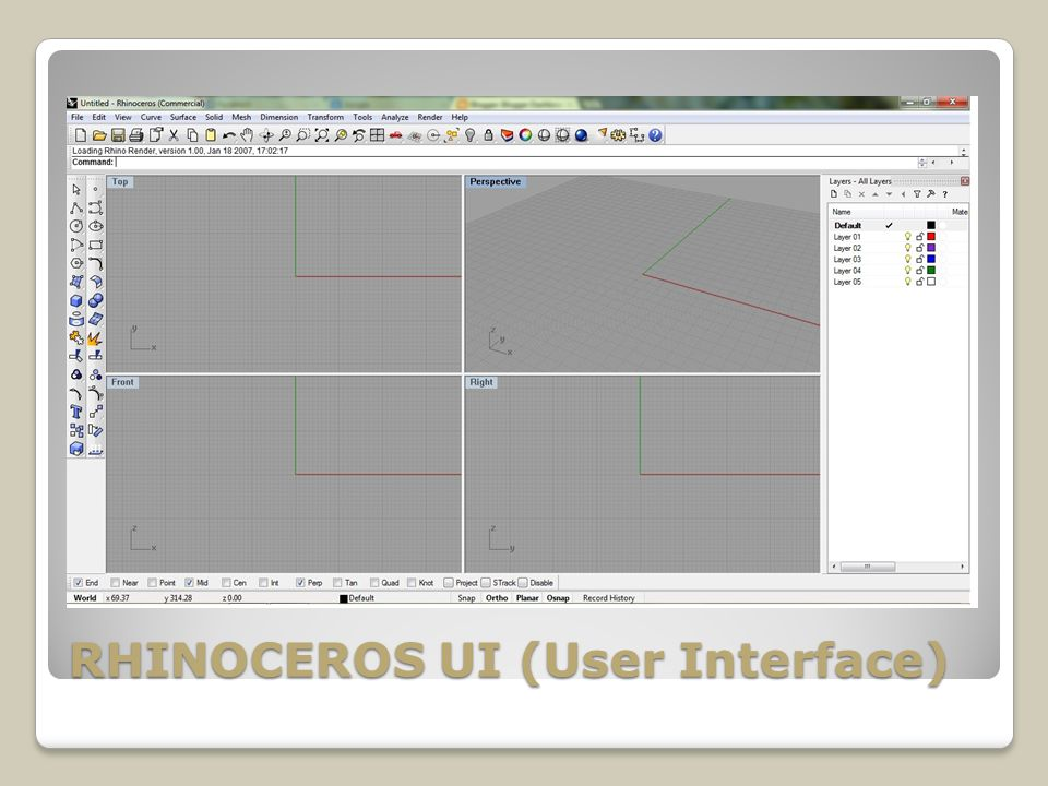 RHINOCEROS UI (User Interface)