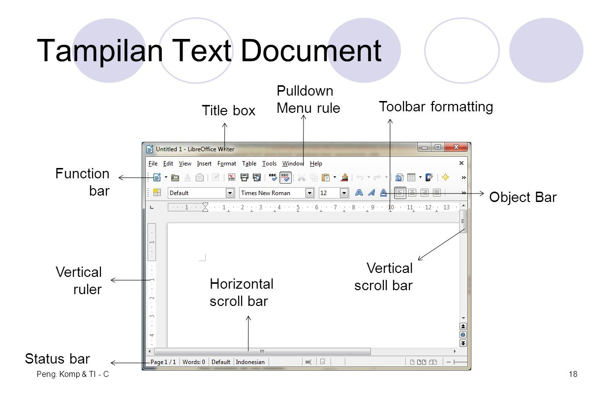 Tampilan Text Document