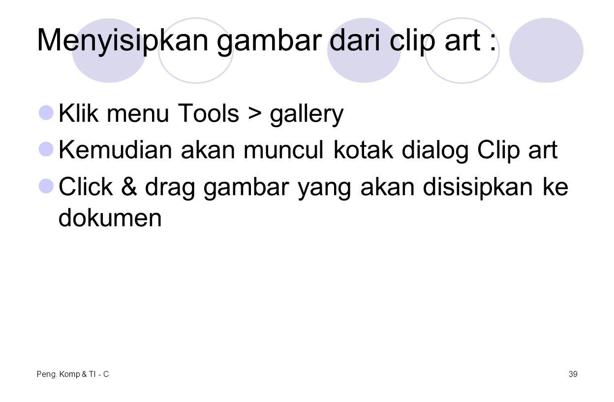 Menyisipkan gambar dari clip art :