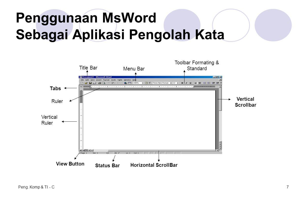 Penggunaan MsWord Sebagai Aplikasi Pengolah Kata