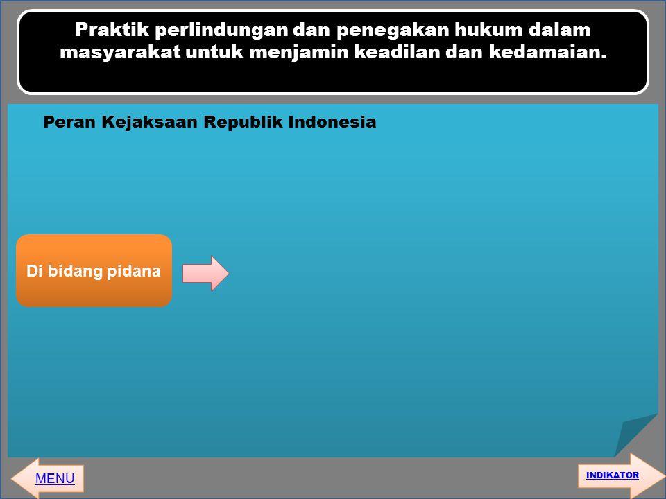 Peran Kejaksaan Republik Indonesia