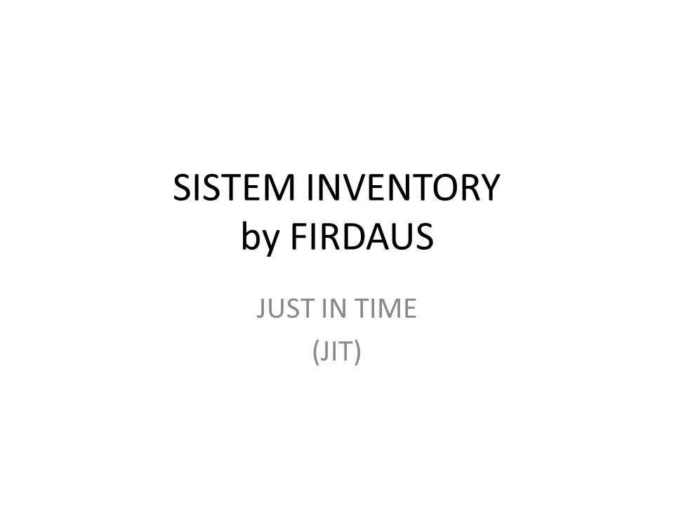 SISTEM INVENTORY by FIRDAUS
