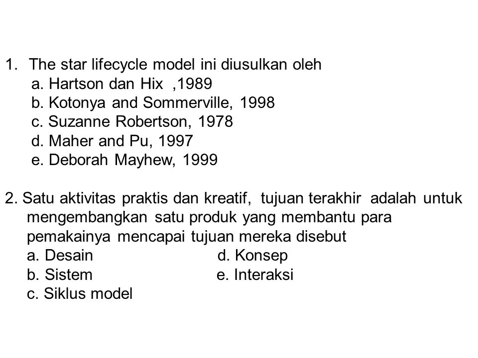 The star lifecycle model ini diusulkan oleh