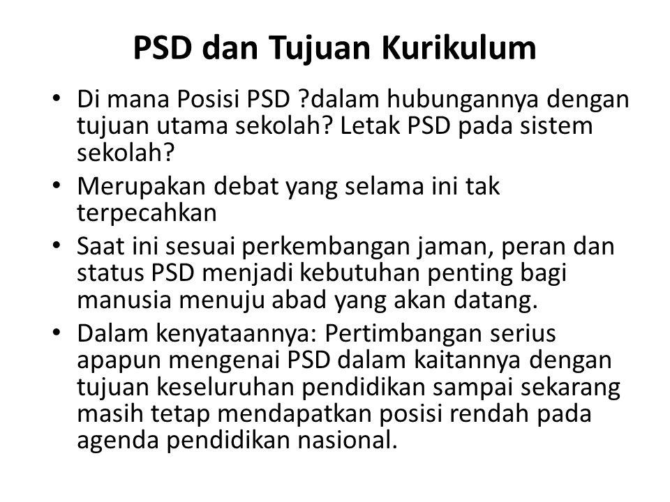 PSD dan Tujuan Kurikulum