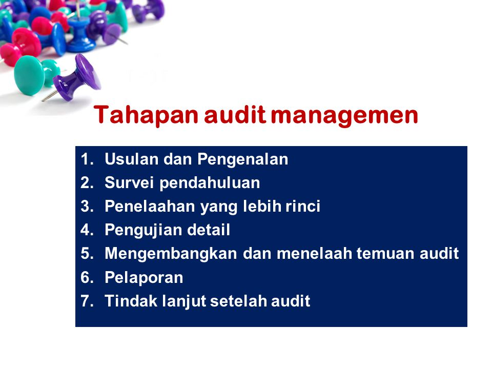 Tahapan audit managemen