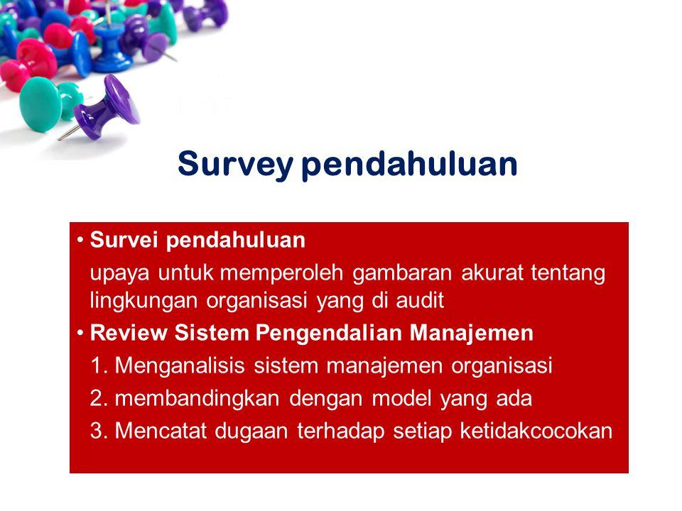 Survey pendahuluan Survei pendahuluan