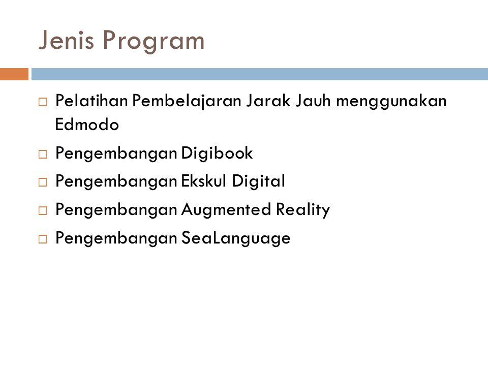 Jenis Program Pelatihan Pembelajaran Jarak Jauh menggunakan Edmodo