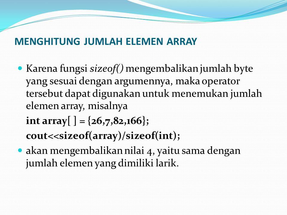 MENGHITUNG JUMLAH ELEMEN ARRAY