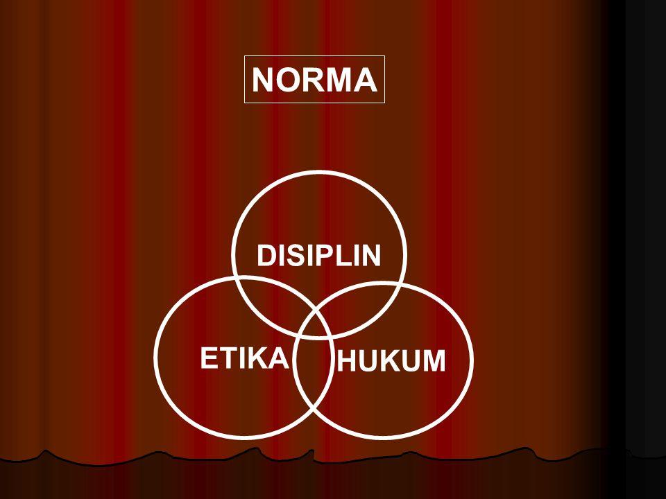 NORMA DISIPLIN ETIKA HUKUM