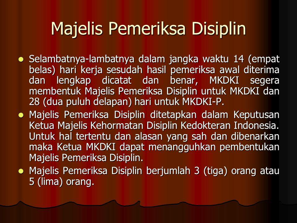 Majelis Pemeriksa Disiplin
