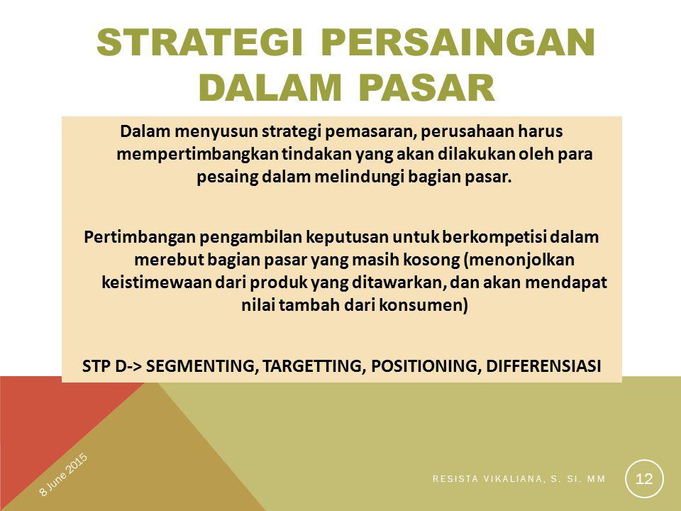 Strategi Persaingan Dalam Pasar