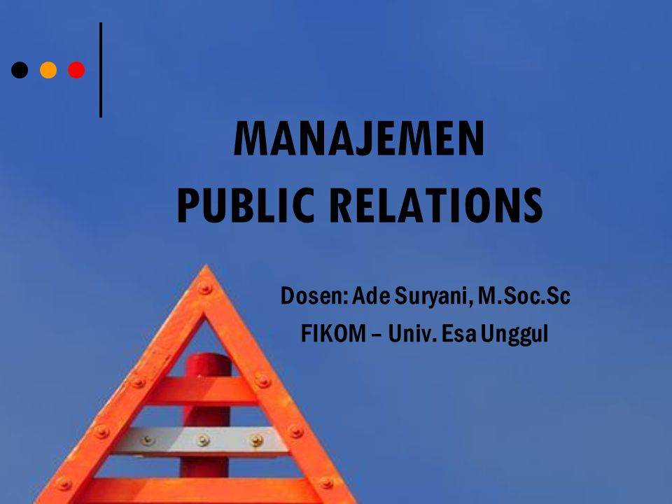 MANAJEMEN public relations