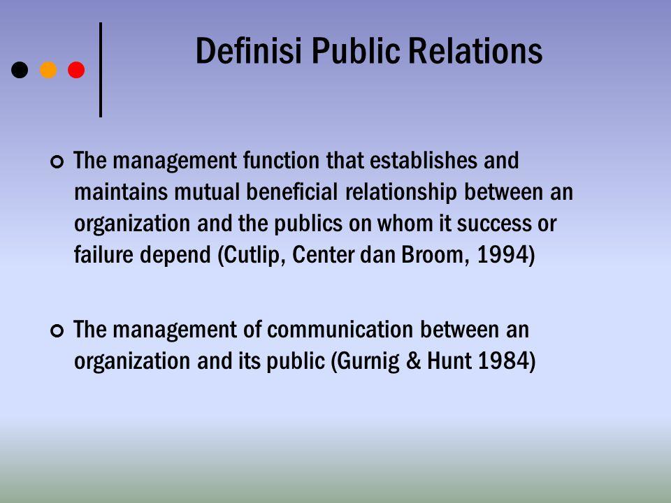 Definisi Public Relations