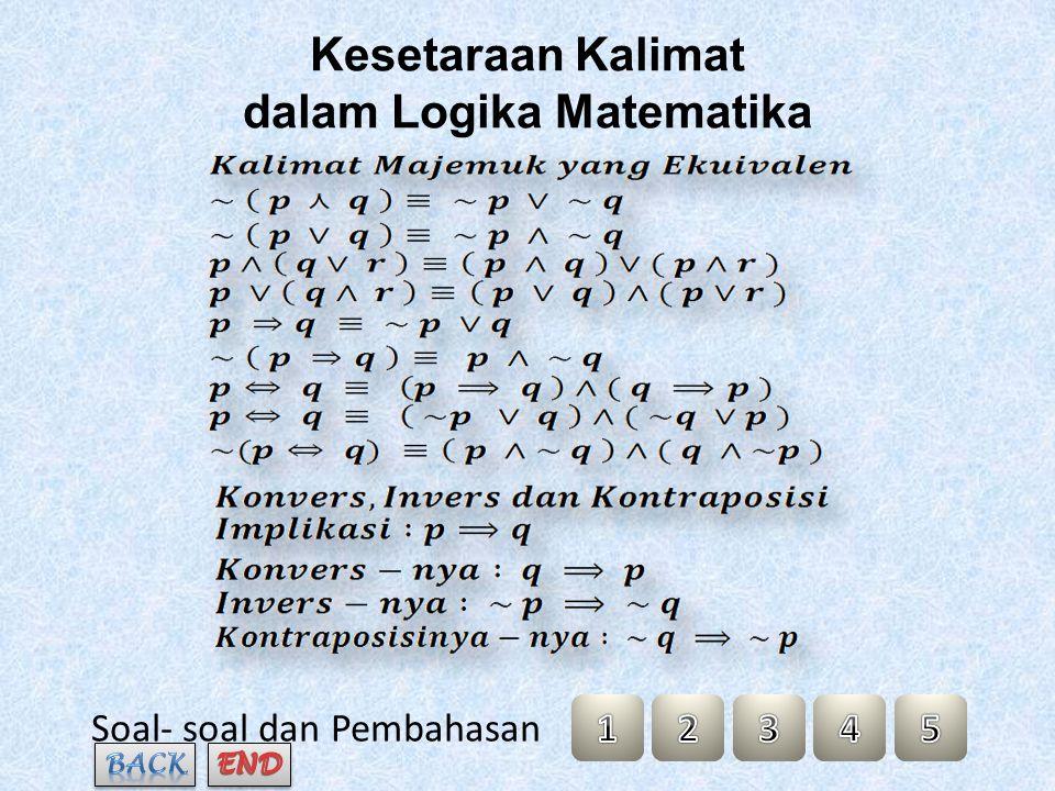 Kesetaraan Kalimat dalam Logika Matematika