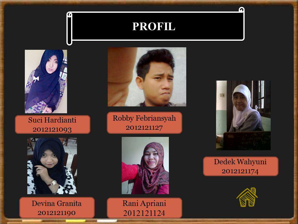 PROFIL Rani Apriani 2012121124 Robby Febriansyah Suci Hardianti