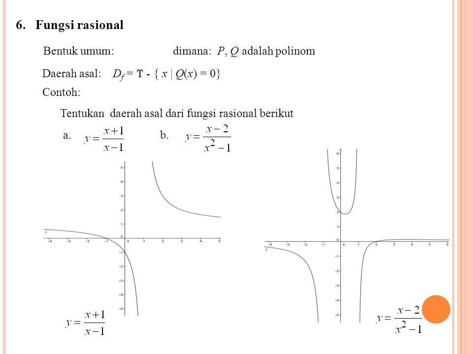 Bentuk umum: dimana: P, Q adalah polinom