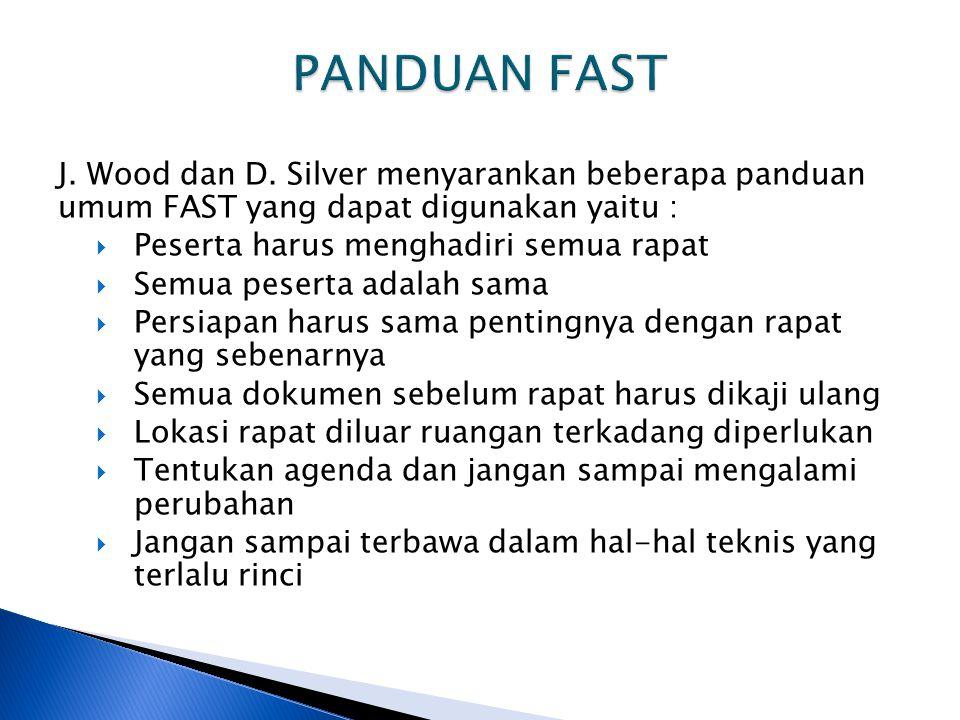 PANDUAN FAST J. Wood dan D. Silver menyarankan beberapa panduan umum FAST yang dapat digunakan yaitu :