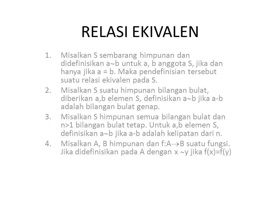 RELASI EKIVALEN