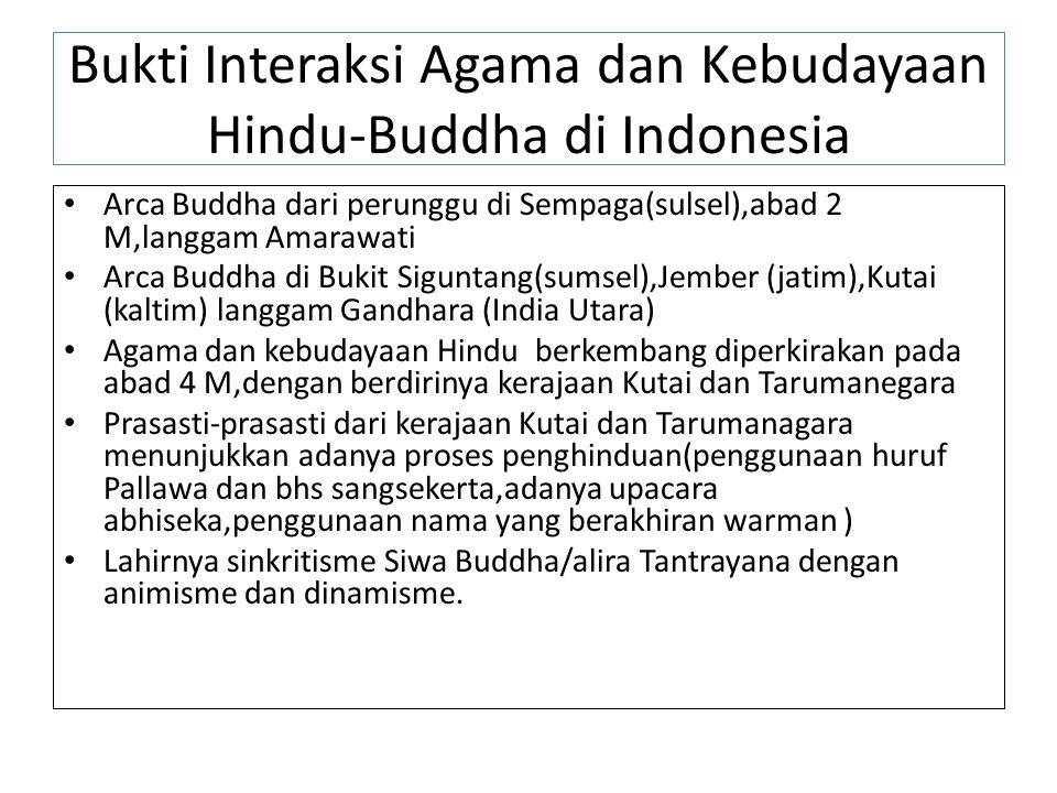 Bukti Interaksi Agama dan Kebudayaan Hindu-Buddha di Indonesia