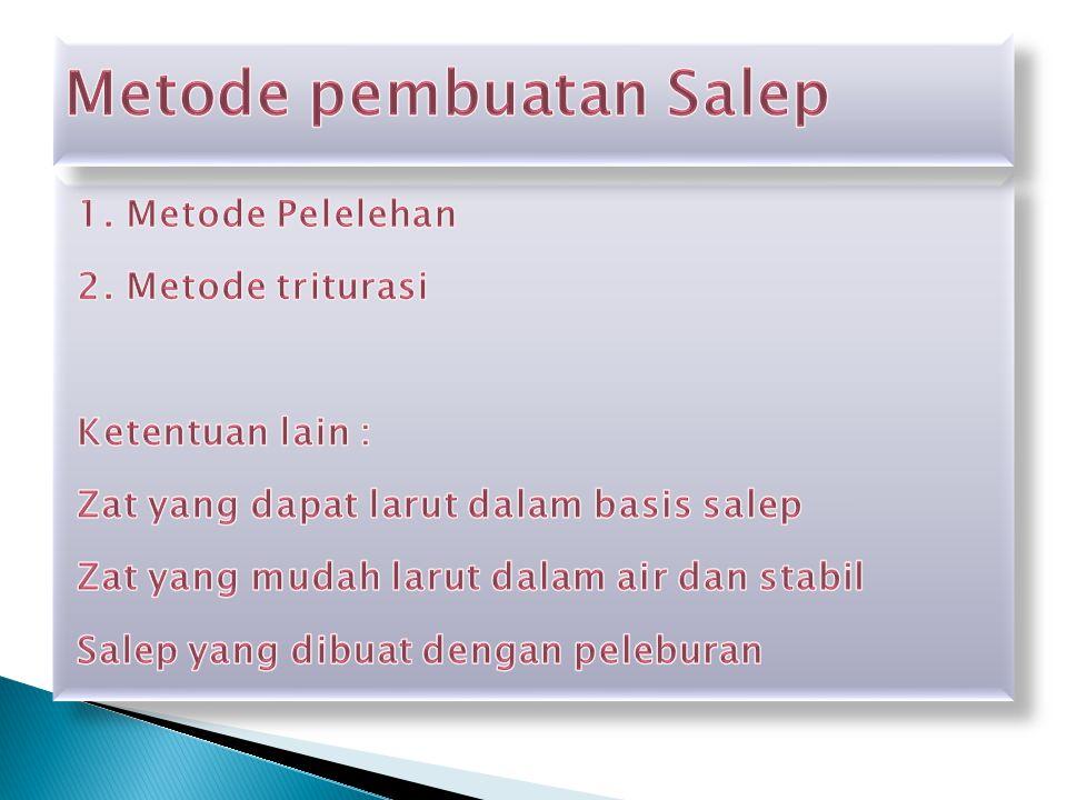 Metode pembuatan Salep