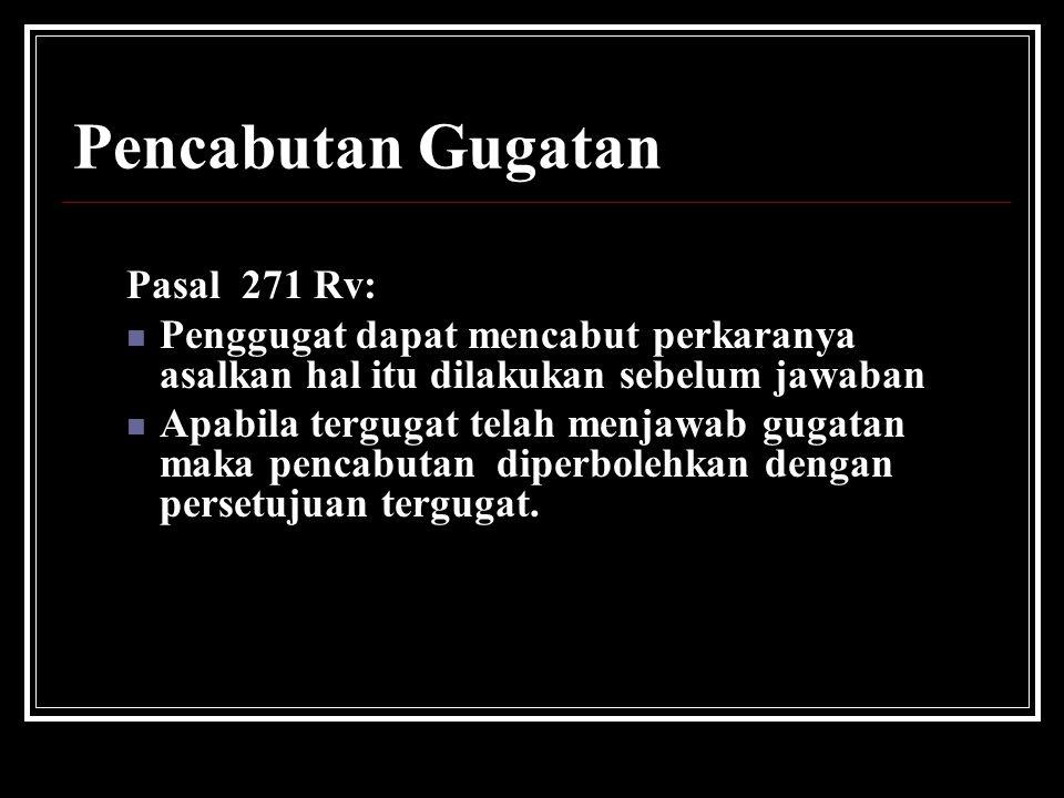 Pencabutan Gugatan Pasal 271 Rv: