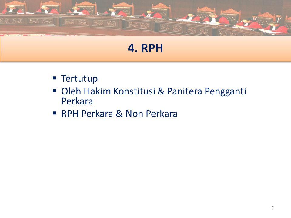 4. RPH Tertutup Oleh Hakim Konstitusi & Panitera Pengganti Perkara