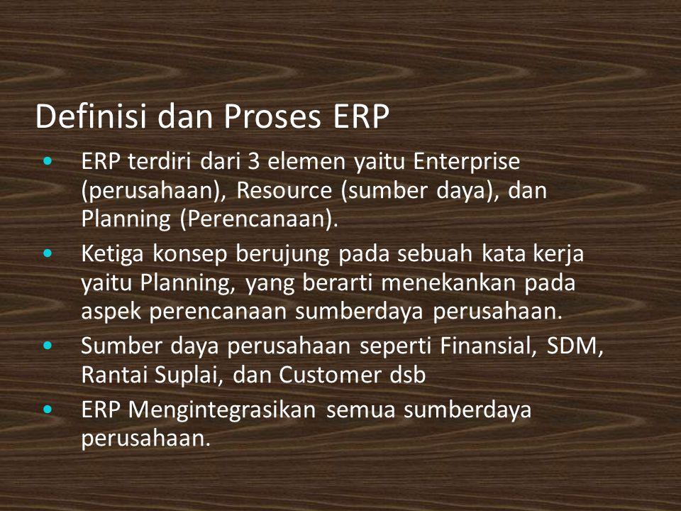 Definisi dan Proses ERP