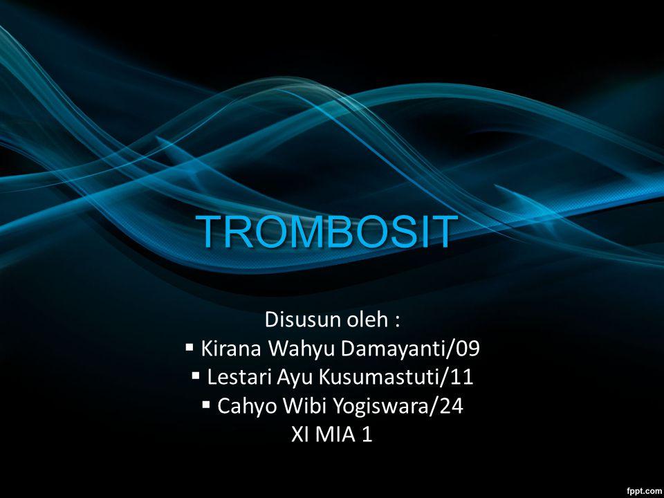 TROMBOSIT Disusun oleh : Kirana Wahyu Damayanti/09